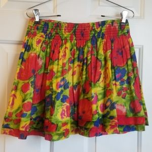 Bright Hollister Floral Skirt